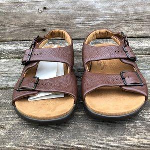 New WOT Brown SAS Sandals Tripad Comfort Size 6.5W
